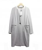 BEIGE(ベイジ)の古着「バックスリットロングジャケット」 グレー
