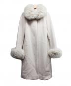 STRAWBERRY FIELDS(ストロベリーフィールズ)の古着「ファー付コート」|ベージュ