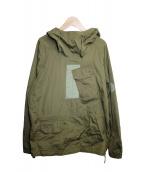 TEN-C(テンシー)の古着「ミストラル プルオーバーフーデッドジャケット」|オリーブ