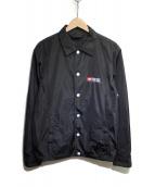 DIESEL(ディーゼル)の古着「ロゴプリントコーチジャケット」 ブラック