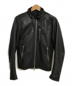 SHIPS JET BLUE(シップスジェットブルー)の古着「ラムレザーライダースジャケット」 ブラック