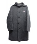 DANTON(ダントン)の古着「ウールモッサ2WAYフーデッドコート」 グレー