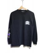 UNDERCOVER(アンダーカバー)の古着「L/Sプリントカットソー」 ブラック