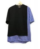 CULLNI(クルニ)の古着「ストライプドッキングプルオーバー」|ブルー×ブラック