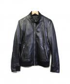 GUILD PRIME(ギルドプライム)の古着「ラムレザージャケット」 ブラック