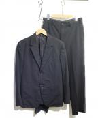 yohji yamamoto costume dhomme(ヨウジヤマモトコスチュームドオム)の古着「ウールブレンドセットアップ」|ブラック