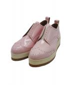 Pippichic(ピッピシック)の古着「ウィングチップシューズ」 ピンク