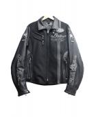BATES(ベイツ)の古着「切替ライダースジャケット」|ブラック