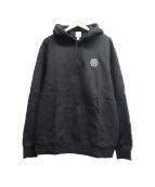 LACOSTE LIVE × Supreme(ラコステライブ × シュプリーム)の古着「フーデッドスウェットシャツ」|ブラック