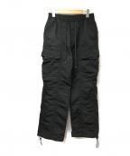 MONKEY TIME(モンキータイム)の古着「ナイロンカーゴパンツ」|ブラック