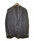 ETONNE(エトネ)の古着「リネンコットンツイードジャケット」|ベージュ
