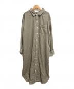 Gymphlex(ジムフレックス)の古着「コーデュロイオーバーサイズシャツワンピース」 ブラウン