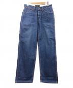 A vontade(アボンタージ)の古着「シンチバックペインターデニムパンツ」|ブルーインディゴ