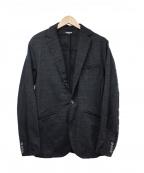1PIU1UGUALE3 RELAX(ウノピゥウノウグァーレトレリラックス)の古着「ジャガードジャージージャケット」 ブラック
