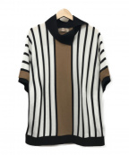 CULLNI(クルニ)の古着「ストライプTシャツ」 ホワイト×ブラック