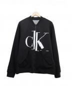 Calvin Klein Jeans(カルバンクラインジーンズ)の古着「リバーシブル アイコニックロゴ ブルゾン」 ブラック×グレー