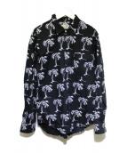 ()の古着「アロハシャツ」|ブラック×ホワイト