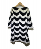 ()の古着「7分袖ワンピース」|ホワイト×ブラック
