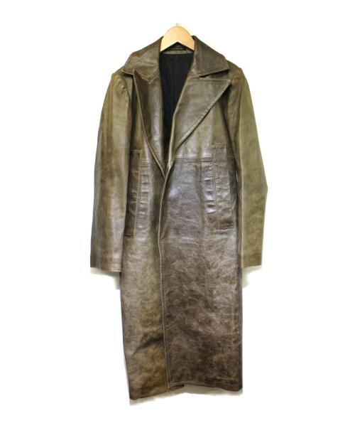 Ys(ワイズ)Ys (ワイズ) ピッグレザーコート カーキ サイズ:2 YG-C14-700の古着・服飾アイテム