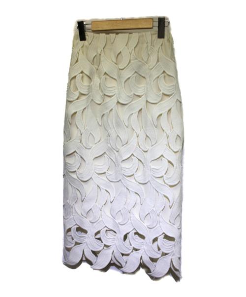 CELFORD(セルフォード)CELFORD (セルフォード) リーフレーススカート アイボリー サイズ:34 2020年モデルの古着・服飾アイテム