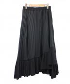 NARA CAMICIE(ナラカミーチェ)の古着「梨地プリーツスカート」 ブラック