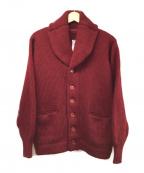 CORONA(コロナ)の古着「ローゲージショールカラーカーディガン」|ワインレッド