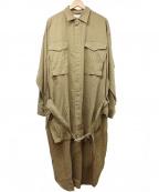 Maison MIHARA YASUHIRO(メゾン ミハラヤスヒロ)の古着「チェックパターンロングシャツ」|ブラウン
