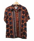 DUKE KAHANAMOKU SPECIAL EDITTI(デューク カハナモク)の古着「レーヨンハワイアンシャツ」 ブラウン