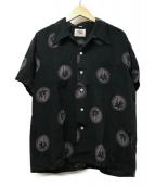 ()の古着「レーヨンハワイアンシャツ」|ブラック