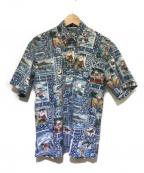 reyn spooner(レイン スプナー)の古着「アロハシャツ」 ネイビー