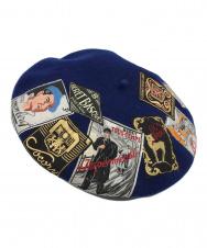 LAULHERE (ローレール) ERIDAN T.S.ワッペン付ベレー帽 ブルー