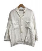 ()の古着「コットンリネンバンドカラーCPOシャツ」|ホワイト