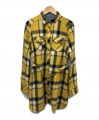 BURBERRY BLUE LABEL()の古着「チュニックチェックシャツ」|イエロー