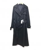 ROSSO(ロッソ)の古着「ロングリボントレンチコート」 ネイビー
