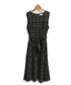 Calvin Klein(カルバンクライン)の古着「総柄ノースリーブワンピース」|ブラック