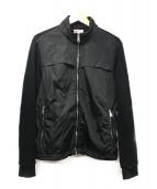 ()の古着「ナイロン切替ジップアップジャケット」|ブラック