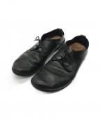 Trippen(トリッペン)の古着「レザーレースアップシューズ」 ブラック