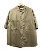 FREAKS STORE(フリークスストア)の古着「ビッグシルエットS/Sシャツ」 ベージュ