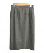 INDIVI(インディビ)の古着「ランダムヘリンボンロングタイトスカート」|グレー