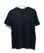 ()の古着「ワンポイントロゴ刺繍Tシャツ」|ネイビー