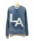 ()の古着「LAプリントデニムスウェットシャツ」|ライトインディゴ