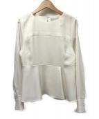 CELFORD(セルフォード)の古着「ベアデザインペプラムブラウス」|ホワイト