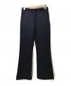 SELF PORTRAIT(セルフ ポートレイト)の古着「ポンチストレートパンツ」|ネイビー