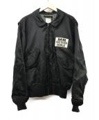 ()の古着「刺繍フライトジャケット」|ブラック