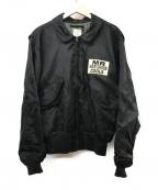 HOUSTON(ヒューストン)の古着「刺繍フライトジャケット」 ブラック