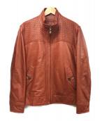 BALMAIN(バルマン)の古着「シープレザージャケット」|ライトブラウン