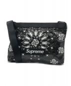 ()の古着「バンダナタープサイドバッグ」|ブラック×ホワイト