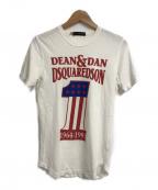 DSQUARED2(ディースクエアード)の古着「プリントTシャツ」|ホワイト