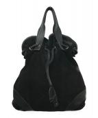 ()の古着「スウェードハンドバッグ」|ブラック