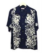 Sun Surf(サンサーフ)の古着「レーヨンアロハシャツ」|ネイビー×ホワイト